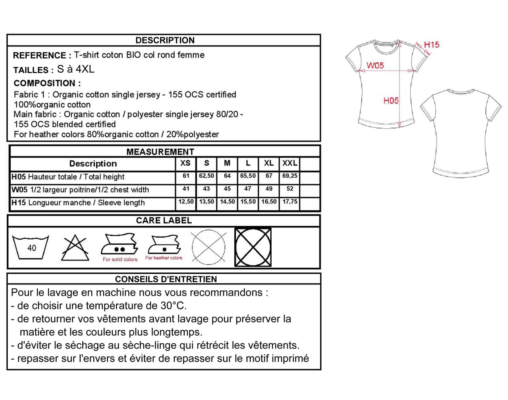 Un guide complet pour choisir correctement la taille de son T-shirt